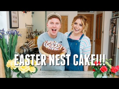 GIANT CHOCOLATE NEST CAKE || BAKING WITH POP