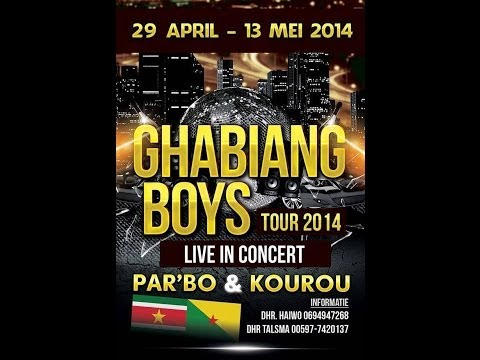GHABIANG BOYS ON TOUUR SURINAME- 29 APRIL TOT 13 MEI 2014