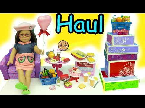 Giant American Girl Doll Food Haul - Cookieswirlc Video
