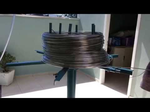 Maquina de fazer correntes para calha