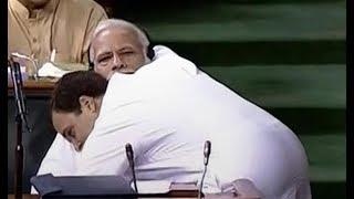 Rahul Gandhi hugs PM Modi   राहुल गांधी ने प्रधानमंत्री मोदी को गले लगाया   See all funny memes - ITVNEWSINDIA