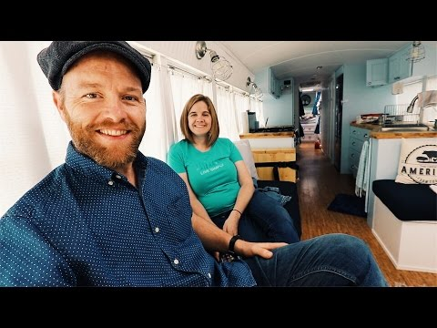 Our First TWO weeks Living In A Bus Conversion
