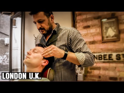 Turkish Barber Face Massage (and more) - HairCut Harry experiences Jack The Clipper, London U.K.