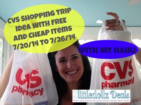 MY CVS HAUL & Shopping Scenario How to Shop with Coupons 7/20/14 to 7/26/14