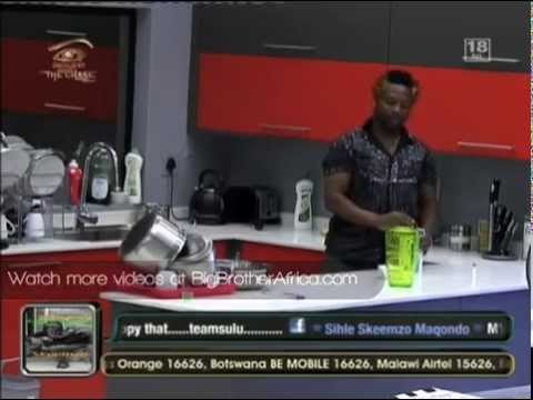 Hiding food-Big Brother Africa The Chase