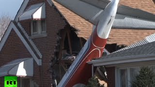 RAW: Plane crashes into Chicago suburb - RUSSIATODAY