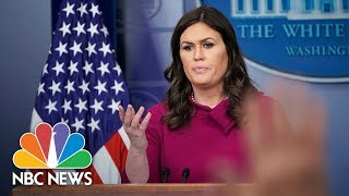 Watch Live: White House Press Briefing - March 20, 2018 - NBCNEWS