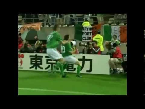 (HQ) Robbie Keane Last Minute Goal Republic of Ireland v Germany 2002 World Cup