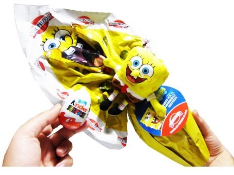 Huge SpongeBob Surprise Egg Unboxing Kinder Surprise Star Wars SpongeBob SquarePants Toys