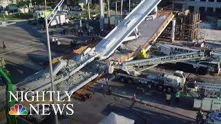 Miami Pedestrian Bridge Collapses, Killing Four | NBC Nightly News - NBCNEWS