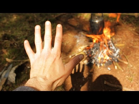 BUSHCRAFT & SURVIVAL CHALLENGE!! - Lighting a Fire with ONE HAND ONLY!