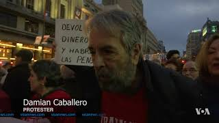 Demonstrators in Spanish Capital March for Pensions; Against Security Law - VOAVIDEO
