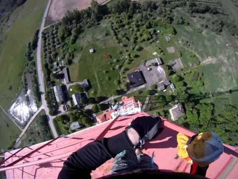 Kuldigas TV Tower BASE Jump