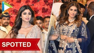 Shilpa Shetty & Raveena Tandon at Isha Ambani- Anand Piramal's grand Wedding Celebrations - HUNGAMA