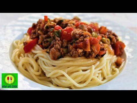 Спагетти болоньезе с фаршем пошаговый рецепт
