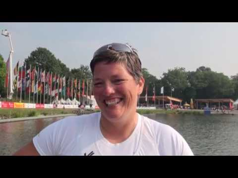 Andrea Green (GBR) Winner of the V1 Women 200m Paracanoe LTA