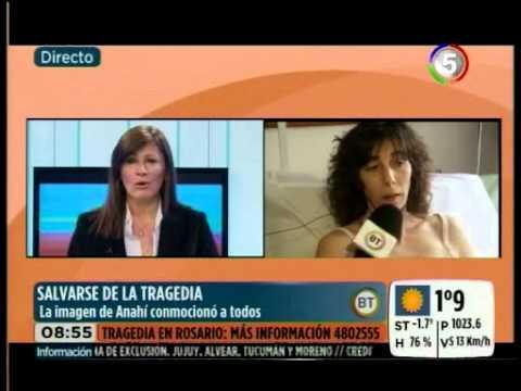 Anahí se salvó de la explosión en Rosario