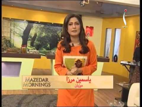 Mazedar Morning with Yasmeen on Indus Television 20 01 2014 Part 01