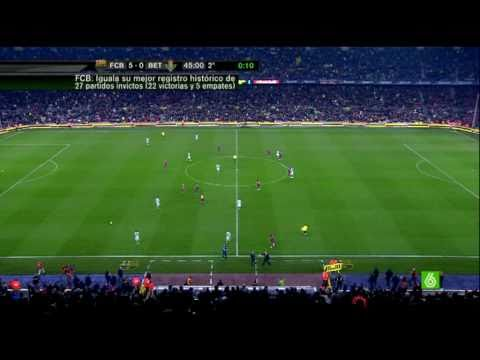 FC Barcelona 5 Real Betis 0 5 0 Copa 1 4 13 01 2011