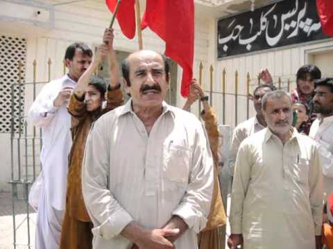 (Hub Balochistan): Engr. Hameed Baloch Central Vice President NP Speaking in Protest Rally