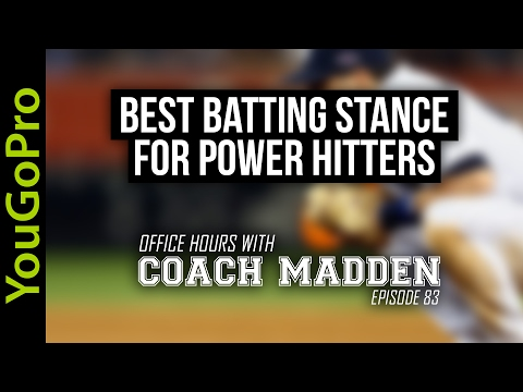 Best Batting Stance for Power Hitters!  [Office Hours with Coach Madden] Ep.83