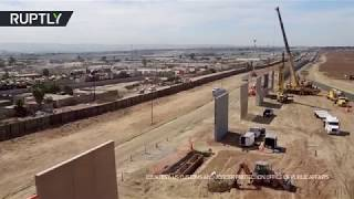 Trump's Wall: Prototypes 'spring up' along Mexican border - RUSSIATODAY