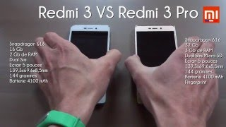 Test Xiaomi : RedMi 3 Vs RedMi 3 PRO (MIUI 7 : Battery, Benchmark, Speed...)