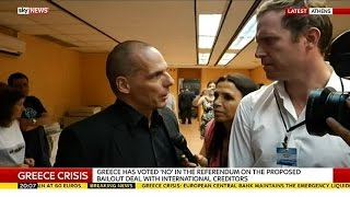 Yanis Varoufakis: Not Being Finance Minister Is A 'Relief' - SKYNEWS