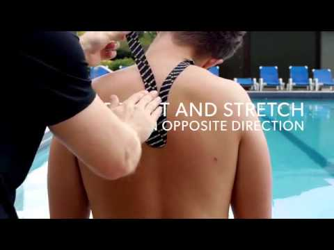 Easy NECK PAIN Kinesiology Taping Application
