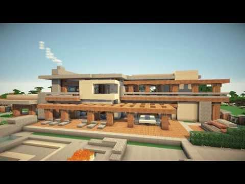 Casas modernas minecraft casa 1 vidoemo emotional for Construcciones de casas modernas
