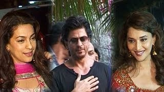Shahrukh Khan ditches his friends Juhi Chawla & Madhuri Dixit