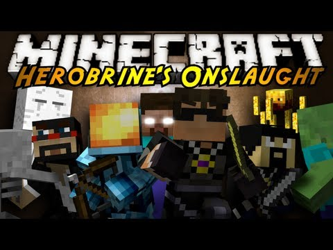 Minecraft Mini-Game : HEROBRINE'S ONSLAUGHT!