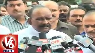 Minister Naini Narsimha Reddy and Doctors press meet on school bus incident - V6NEWSTELUGU
