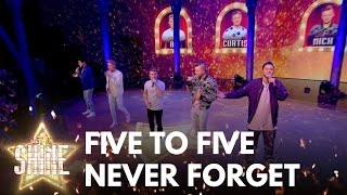 """""""Five To Five perform Take That's 'Never Forget' - Let It Shine 2017 - BBC One  """" - BBC"""