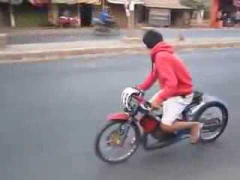 MOTOR DRAG BIKE SATRIA KARBU KING