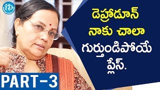 Retd IFS Officer CS Ramalakshmi Interview Part #3 || Dil Se With Anjali - IDREAMMOVIES