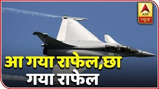 Actual Footage: The Trails Of Soaring Rafale Jets | ABP News - ABPNEWSTV