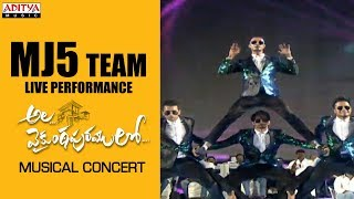MJ5 Team Live Performance @ Ala Vaikunthapurramuloo Musical Concert - ADITYAMUSIC