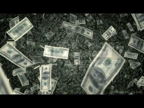 $100 Bills Raining Down - US - BassVisuals.com