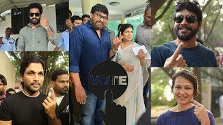 Telangana Elections 2018: Celebs cast their votes | Chiranjeevi,Allu Arjun,Jr NTR - IGTELUGU