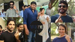 Telangana Elections 2018: Celebs cast their votes | Chiranjeevi,Allu Arjun,Jr NTR - IGTELUGU