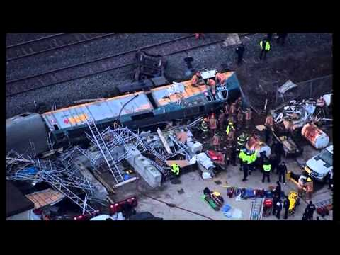Train Crash Burlington in Southern Ontariom, Canada