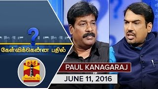 Kelvikku Enna Bathil 11-06-2016 Interview With MHAA President Paul Kanagaraj – Thanthi TV Show Kelvikkenna Bathil