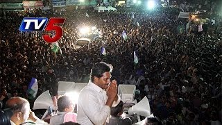 YS Jagan's Road show On Midhakur In Kadapa  Distric - TV5NEWSCHANNEL