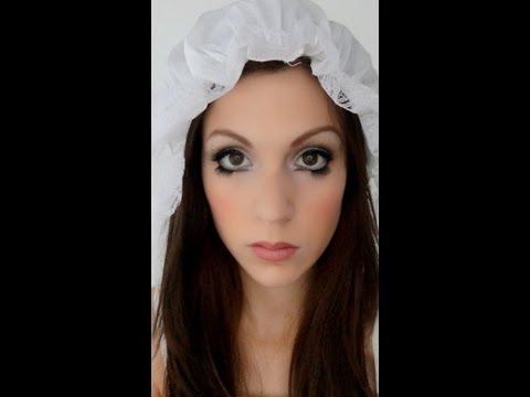 Maquillage d'Halloween : poupée angélique