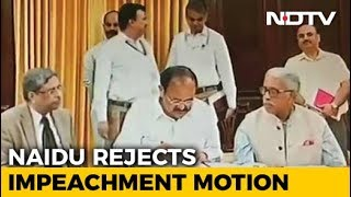 Congress-Led Move To Impeach Chief Justice Rejected By Venkaiah Naidu - NDTV