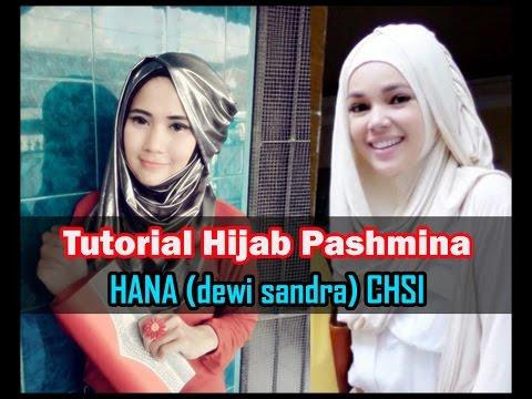 Tutorial Hijab Pashmina Hana (Dewi Sandra) CHSI RCTI by Didowardah #45