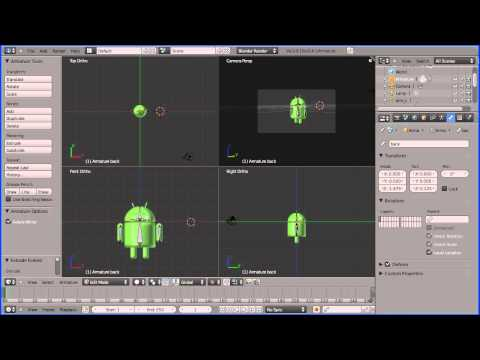 Blender 2.5 Introduction to Rigging - Adding a Rig to a Google Android (New Version)