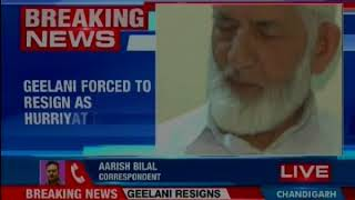 Separatist leader Syed Ali Shah Geelani forces to resign as Hurriyat Chief - NEWSXLIVE
