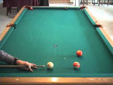 Pool and billiards draw/backspin/screw-back shot - Part 3: examples (NV B.97)